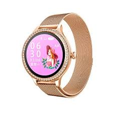 Leather Strap <b>M8 Smart Watch Women</b> Heart Rate Monitor Blood ...