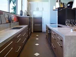 modern kitchen with granicrete countertops