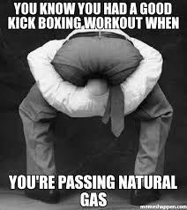 you know you had a good kick boxing workout when you're passing ... via Relatably.com