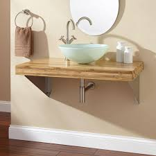 bamboo bath furniture. Bamboo Wall Mounted Bathroom Vanity With Vessel Sink For Furniture Ideas Bath C