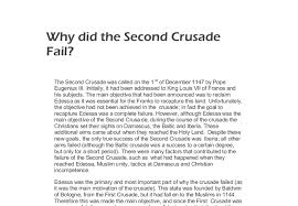 why did the second crusade fail a level history marked by  document image preview