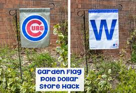 cubs garden flag pole dollar