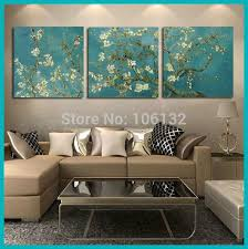 framed 3 panel canvas art van gogh painting reproductions flowers wall pictures for living room home decor a0706 in painting calligraphy from home  on 3 panel wall art flowers with framed 3 panel canvas art van gogh painting reproductions flowers
