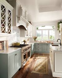 Grey painted kitchen cabinets  Two-toned ...