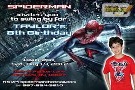 amazing spiderman party invitations birthday party invitation custom personalized printable invites invitation