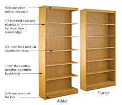 shelving with particle board 3 ply or solid construction will one day worry you shelving with unnamed hardwood shelves or just metal pins to hold up the