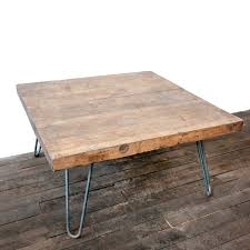 ... Coffee Table, New Brown Square Ancient Wood Hairpin Coffee Table Legs  Designs Which You Need ...