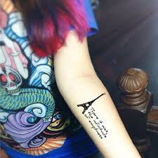 Eiffelova Věž Romantický Tetování Samolepky Dočasné Tetování 1 Ks