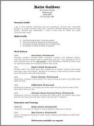 Free Download Curriculum Vitae Blank Format Free Download Curriculum
