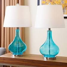 remarkable turquoise table lamps of abbyson luciana glass lamp set 2 free