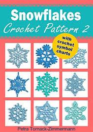 Crochet Snowflake Pattern Chart Snowflakes Crochet Pattern 2 With Crochet Symbol Charts