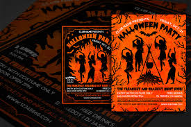 Costume Contest Flyer Template Halloween Party Flyer Template By Moloko88 Thehungryjpeg Com