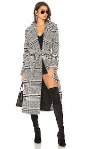 friends x revolve sabra coat black check plaid coats fall 2017 winter 2018