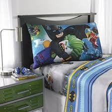 batman lego microfiber sheet set with pillow case twin intl