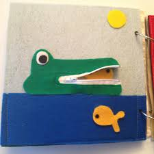 hungry alligator quiet book page