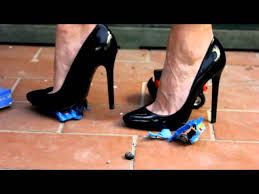 High heel crush fetish