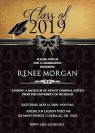 Elegant Graduation Announcements 2019 Graduation Invitation Elegant Graduation Announcement