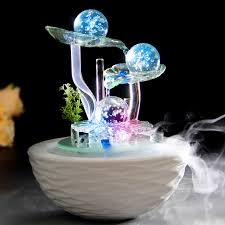 wealth bring good luck water fountain fengshui crafts home decoration new year gifts office desk business bringing feng shui office