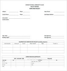 Work Order Request Form Template Getvenue Co