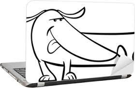 Sticker Schattige Hond Kleurplaat Pixers We Leven Om Te Veranderen