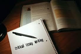 Critical Essay Writing