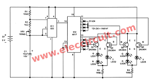 traffic light controller circuit using cd4027 ne555 03 the schematic diagram of the traffic light circuit in update version