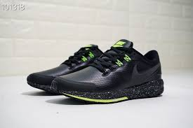 mens nike air structure 22 leather black green running shoes