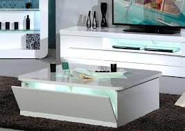 high gloss coffee table square in white and grey 1 tables for
