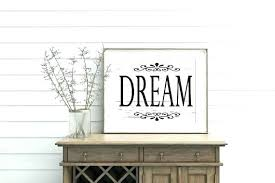 dream wood sign printable wall art decor french big rustic shabby chic h
