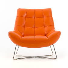 trend orange leather chair  sofas and couches set with orange
