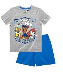 Nickelodeon Size Chart Paw Patrol Boys Short Sleeve Pyjamas Officially