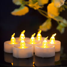 Us 7 31 5 Off Flickering Tealights 12 Pieces Mini Gold Led Candle Amber Glow Blink Velas Decorativas Decoracion Hogar Velas Led With Battery In