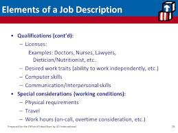 Developing And Keeping Good Employees: Job Descriptions &performance ...
