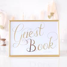 Guest Book Gold Foil Personalised Wedding Sign By Made With Love