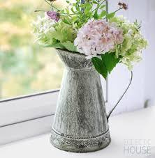 Decorative Jugs And Vases Rustic Zinc Jug With Decorative Base Decorating Pinterest Rustic