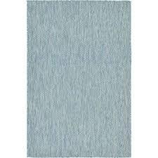 outdoor solid aquamarine 4 0 x 6 0 area rug