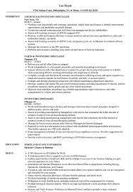 Best Buy Resume Examples Inventory Specialist Resume Samples Velvet Jobs
