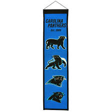 Carolina Panthers Logo Evolution Heritage Banner