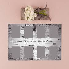 Seating Chart Kit With Birch Bark Design