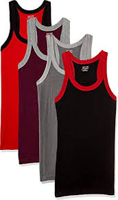 Buy Lux Cozi Men Assorted Pack Of 4 Vests Xx Large Online