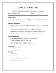 80 Placement Outline Of A Basic Resume For Any Positions Resume