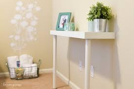 diy ikea narrow console table