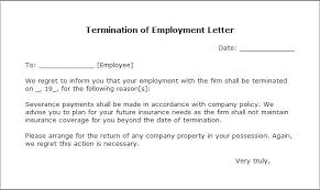 Sample Of A Termination Letter To An Employee How To Write Termination Letter Employee Template Word Doc Download
