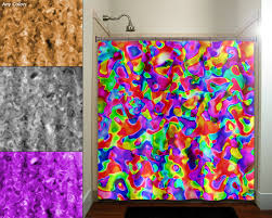 colorful shower curtains. Fancy Bright Shower Curtains And Multicolor Rainbow Colorful Colors Curtain