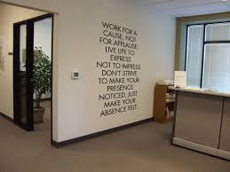 cool office wall art. Office Art Ideas. Wall Inspiring Quotes Work For A Cause Not Cool Qtsi.co