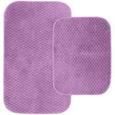 cabernet purple 21 in x 34 in washable bathroom 2 piece rug set