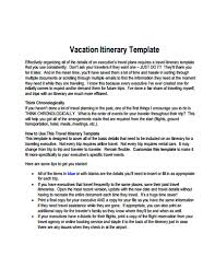Make A Vacation Itinerary Vacation Itinerary Template Free Download Create Edit