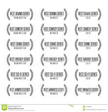 Best Tv Show Series Genre Nomination Award Vector Illustration Stock