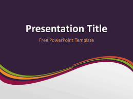 wave powerpoint templates purple wave powerpoint template presentationgo com