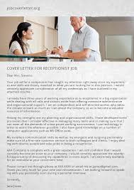 How To Write A Good Cover Letter For Receptionist Job | Job Cover ...